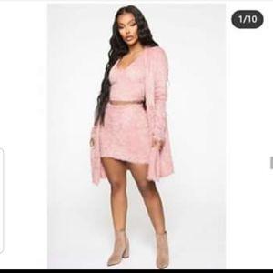 """Fashionova Curve """"keep me cozy"""" 3piece sweater set"""